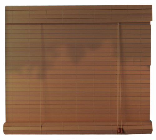 Radiance 1848948 Exterior Plantation Fruitwood Roll Up Window Blind 48 Inch Wide By 72 Inch
