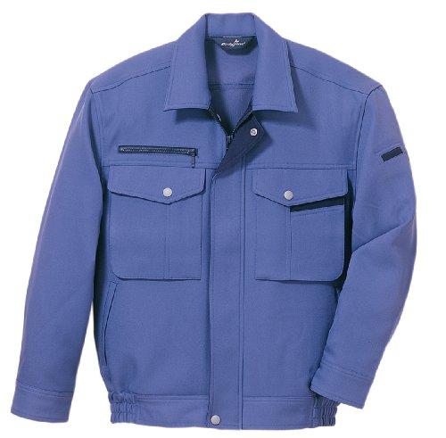 Bodyfine 長袖ブルゾン 秋冬 作業着 男女兼用 パープルブルー M
