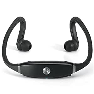 Motorola S9-HD Bluetooth MOTOROKR/MOTOACTIV Stereo Headset (Gloss Black) [Retail Packaging]