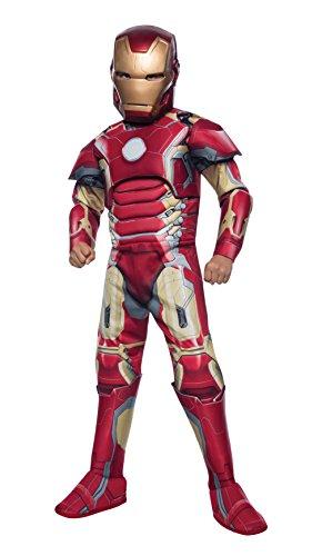Iron Man Deluxe - Rächer Alter von Ultron - Kinder-Kostüm - Klein - 117cm