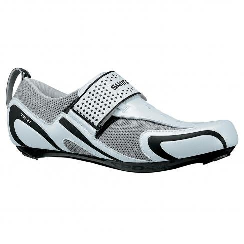 Shimano SH-TR31 Men's Triathlon Cycling Shoe, White/Black, 46