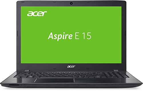 Acer Aspire E 15 (E5-575-5262) 39,6 cm (15,6 Zoll Full HD) Notebook (Intel Core i5-6267U, 8GB RAM, 256GB SSD + 1TB HDD, Intel Iris Graphics 550, DVD, Win 10 Home) schwarz