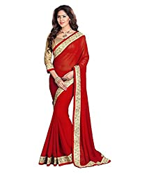 My online Shoppy Net Saree (My online Shoppy_21_Red)