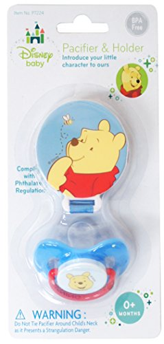 Winnie The Pooh Pacifier & Pacifier Holder - 1