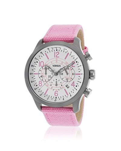 Versus Women's Soho Pink/White Ion Plated Stainless Steel Watch