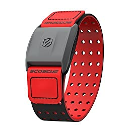 Scosche Rhythm Heart Rate Monitor Armband Red Various