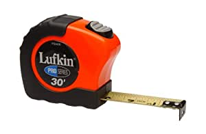 Lufkin PS3430 1-Inch x 30 Pro Series Power Return Tape Measure