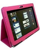 Etui-housse en cuir pour 10.1' Samsung Galaxy Tab 3 Tablet P5200 P5210 P5220 - rose