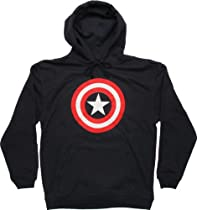 Captain America Logo Pullover Hoodie Large