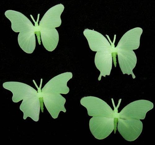 Imagen principal de Conjunto de 4 mariposas fluorescentes 3D