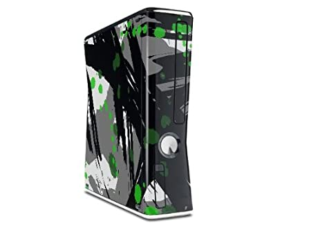 Abstract 02 Green Decal Style Skin for XBOX 360 Slim Vertical