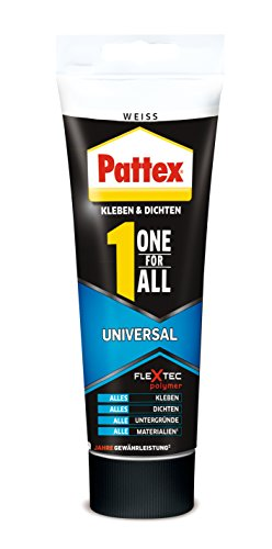 Pattex One for All Universal, Combinazione montaggio adesivo e una mastice plastoelastico per giunti, 142g, 1pezzo, bianco, pxo80