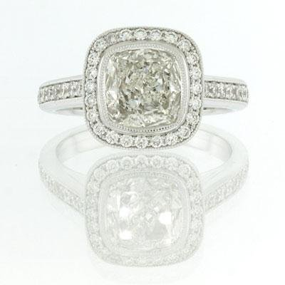 2.30ct Cushion Cut Diamond Engagement Anniversary