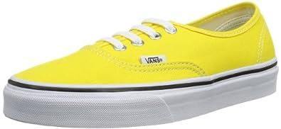 Vans U Authentic, Baskets mode mixte adulte - Jaune (Cyber Yellow/True White), 34.5 EU