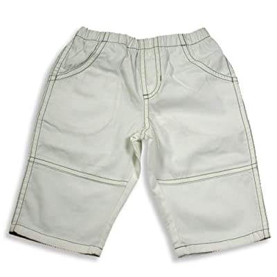 Charlie Rocket - Newborn Boys Pants, White