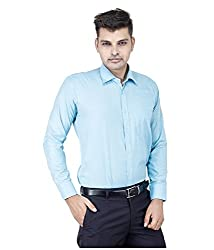Frankline Men's Formal Shirt (Frankline-72_ Green _40)