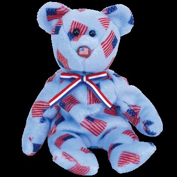 TY Beanie Baby - UNION the Bear (w/ USA Flag Nose)