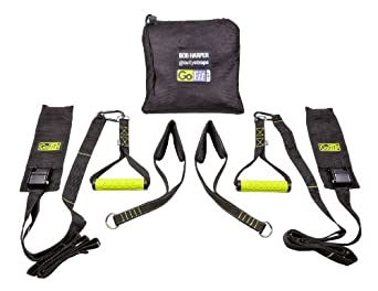 GoFit Gravity Straps Suspended Body Weight Training System with Carry Bag and Bob Harper Training DVD