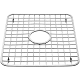 InterDesign Sink Grid, Hole in Middle, Polished Stainless Steel