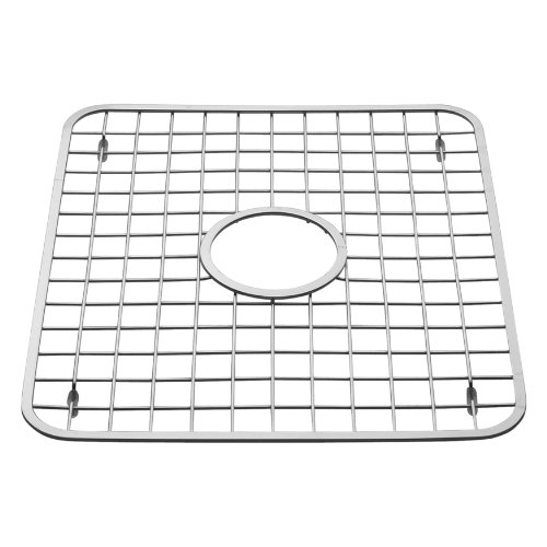 InterDesign Sink Grid with Hole, Polished Stainless Steel, 12.75x11 inches (Stainless Steel Sink Protectors compare prices)