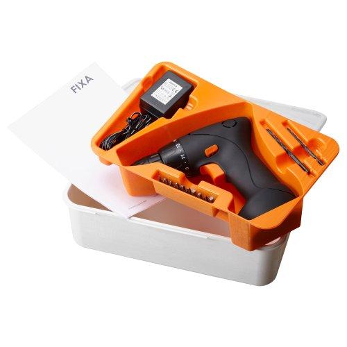 FIXA スクリュードライバー / ドリル ビット付き 充電式 リチウムイオンバッテリー [イケア]IKEA(50203260)