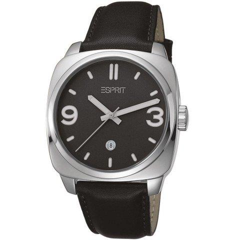 Esprit ES103611001 - Reloj de pulsera hombre, piel, color negro