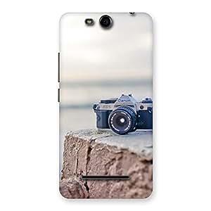 Cute Camera on Rock Multicolor Back Case Cover for Micromax Canvas Juice 3 Q392
