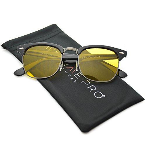 Rimless Glasses Vs Rimmed : Polarized Clubmaster Men Women Classic Half Frame Semi ...