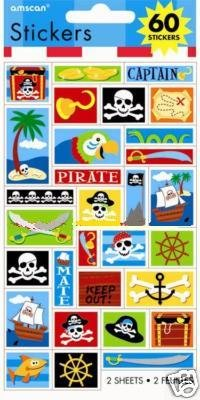 Pirates Stickers Party Favors