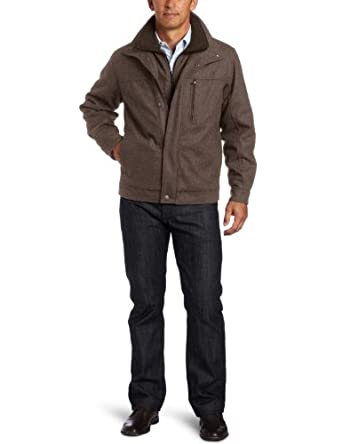 London Fog Men's Antrim Wool Hipster, Mocha Heather, Medium