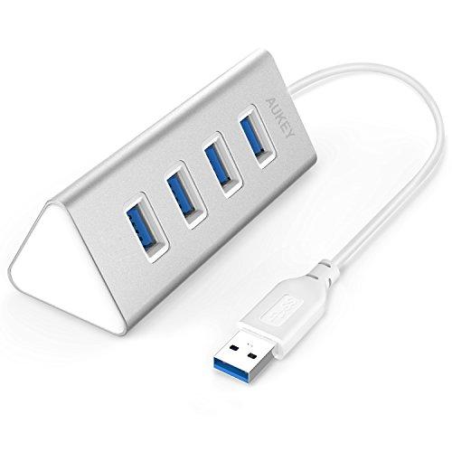 Aukey USB 3.0 ハブ 4ポート バスパワー 高速ハブ 軽量・コンパクト アルミニウムハブ CB-H31