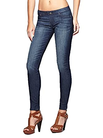 G by GUESS Women's Pull-On Super Skinny Jeans, DARK WASH (XS)