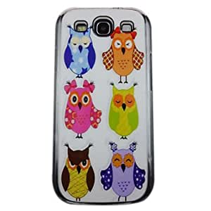Cute Owl Pattern PC Back Case for Samsung S3/I9300