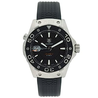 TAG Heuer Men's WAJ2110.FT6015 Aquaracer Calibre 5 Automatic 500M Black Rubber Watch by TAG Heuer