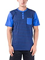 Nike Hurley Camiseta Manga Corta Dri-Fit Superior Henley (Azul)