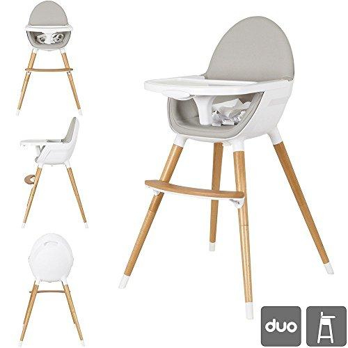 Ibaby Duo 2-in-1 Seggiolone / Junior Chair. Vassoio estraibile. Ultra comodo sedile e facile da pulire .