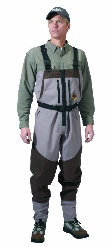 Caddis Northern Guide Zippered Breathable Stockingfoot Wader, Large Stout