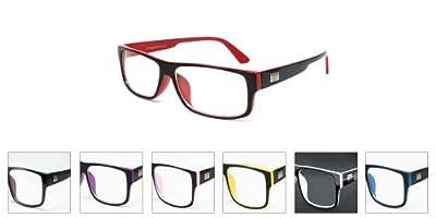 "Newbee Fashion® - ""Kayden"" Retro Unisex Plastic Fashion Clear Lens Glasses"
