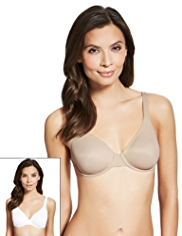2 Pack Non-Padded Underwired A-DD Bras