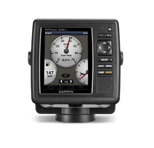 Garmin GPSMAP 547xs 10Hz GPS/GLONASS Receiver with Transducer