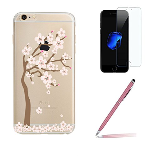 iphone-7-case-with-tempered-glass-screen-protector-yooweir-ultra-thin-crystal-clear-soft-gel-tpu-tra