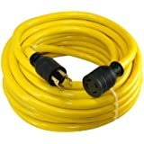 Conntek 20602 50-Foot 10/4 30 Amp 125/250 Volt 4 Prong L14-30 Transfer Switch Cord/Generator Extension Cord