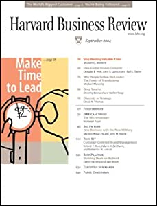 Harvard Business Review, September 2004 Periodical