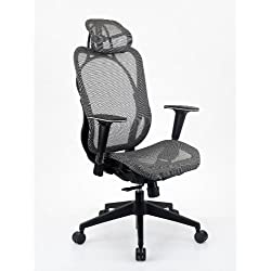 Integrity Seating Ergonomic Mesh Executive Office Chair With Headrest (Gray) by Integrity Worldwide, LLC
