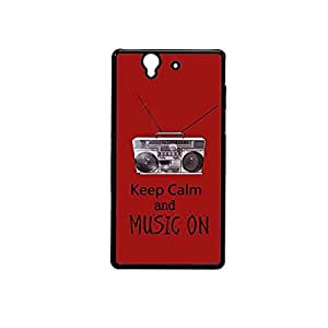 Vibhar printed case back cover for Sony Xperia Z MusicOn