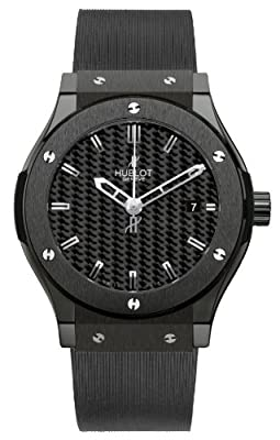 Hublot Classic Fusion Black Carbon Fiber Dial Automatic Black Rubber Mens Watch 542.CM.1770.RX from Hublot