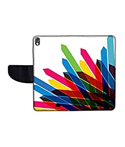 KolorEdge Printed Flip Cover For Gionee Elife S5.1 Multicolor -(50KeMLogo12478GioneeS5.1)