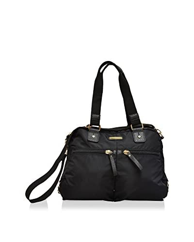 Adrienne Vittadini Featherweight Double-Handle Satchel, Black