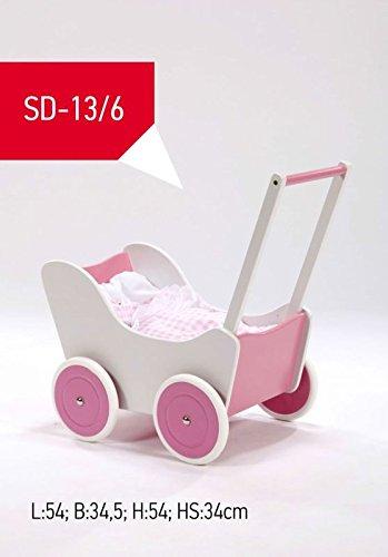Lauflernauto / Puppenwagen (weiß/pink)