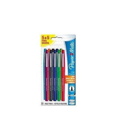 papermate-lot-de-5-5-feutres-flair-8-couleurs-assorties